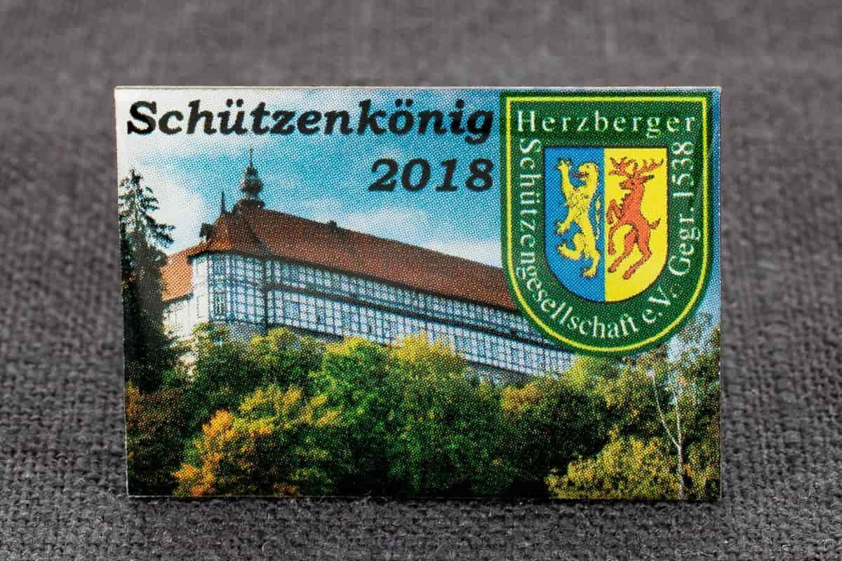 "Pin Offsetdruck ""Herzberg"""