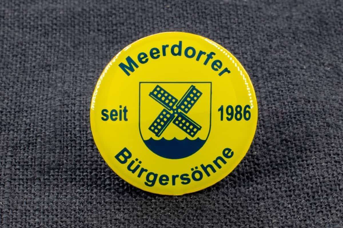 "Anstecknadel Siebdruck ""Meerdorfer"""